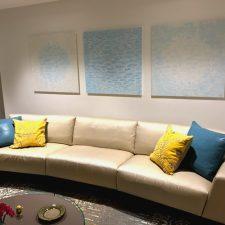 Palm Beach installation of Zum/Bloom Triptych