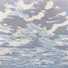 Clouds - var. 84, 1/1, woodcut, 3'x3'