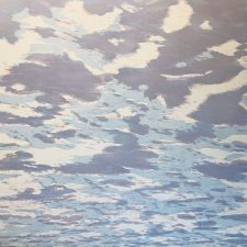 Clouds - var. 85, 1/1, woodcut, 3'x3'