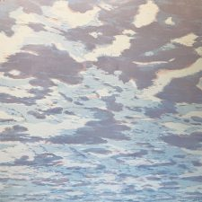 Clouds - var. 86, 1/1, woodcut, 3'x3'