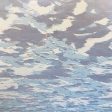 Clouds - var. 89, 1/1, woodcut, 3'x3'