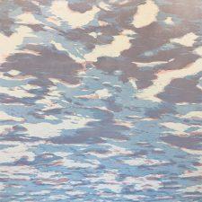 Clouds - var. 91, 1/1, woodcut, 3'x3'