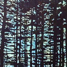 "Green Tsuga w/ wc, 1/1, woodcut, 30"" x 22"""