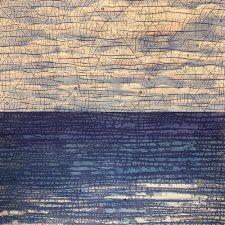 Horizons - var. 3,1/1, woodcut w/ wc, 3'x3'