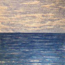 Horizons - var. 4,1/1, woodcut w/ wc, 3'x3'