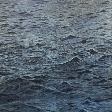 Seascape - var. 10 w/wc, 1/1, woodcut, 3'x3'