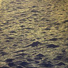 Seascape - var. 6, 1/1, woodcut, 3'x3'