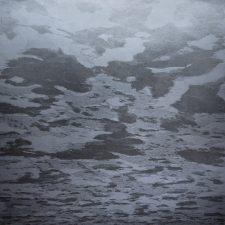 Silver Clouds - var 1 1/1. woodcut, 3'x3'
