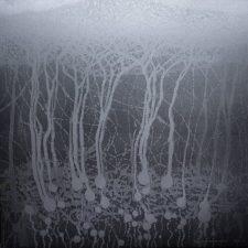 Silver Neural Network - var 1 1/1. woodcut, 3'x3'