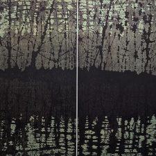 Tree Nocturne, var. 1 & var. 2 as Diptych, 1/1, woodcut, 3'x3'
