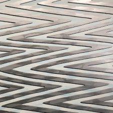 Waves - var. 27, 1/1. woodcut, 3'x3'