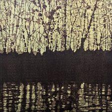 Woodland Landscape III Nocturne, L, 1/2, woodcut, 3'x3'