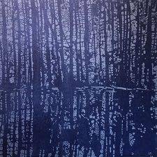 Woodland Landscape IX - var. 5, woodcut, 3'x3'