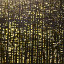 Woodland Landscape VII, State B, R, var. 8, 1/1, woodcut, 3'x3'