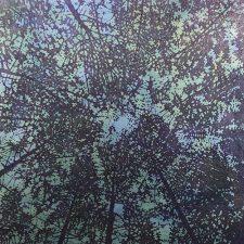 Woodland Skyscape - var. 119, 1/1, woodcut, 3'x3'