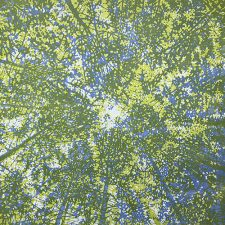 Woodland Skyscape - var. 125, 1/1, woodcut, 3'x3'