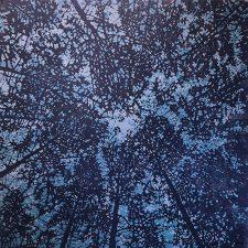 Woodland Skyscape - var. 79a, 1/1, woodcut, 3'x3'
