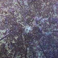 Woodland Skyscape - var. 89, 1/1, woodcut, 3'x3'