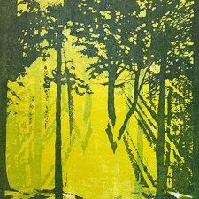 "Woodland Visions - var. 11, 1/1, woodcut, 30"" x 22"""