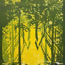 "Woodland Visions - var. 12, 1/1, woodcut, 30"" x 22"""