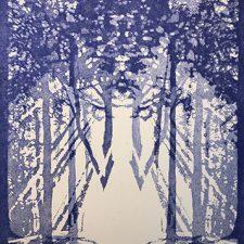 "Woodland Visions - var. 15, 1/1, woodcut, 30"" x 22"""