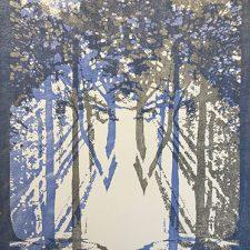 "Woodland Visions - var.16, 1/1, woodcut, 30"" x 22"""