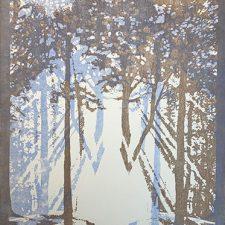 "Woodland Visions - var.17, 1/1, woodcut, 30"" x 22"""