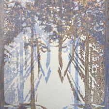 "Woodland Visions - var. 18, 1/1, woodcut, 30"" x 22"""