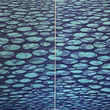 Zumscape IV, 5/6 & 6/6 as Diptych, woodcut, (2) 3'x3'