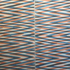 Waves - var. 19 & var. 20 as Diptych, 1/1, woodcut, (2) 3'x3'