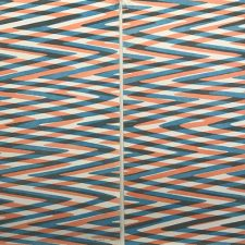 Waves - var. 19, 1/1 & Waves - var. 20, 1/1, woodcut, (2) 3'x3'