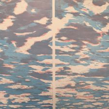 Clouds Diptych (var. 36 & 37), 1/1, woodcut, (2) 3'x3'