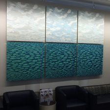 Ensemble: Clouds Var. 16, 17, 18; Zumscape Var. 7, 8, 9. The Institute of Reconstructive Plastic Surgery, NYU Langone Medical Center Art Collection