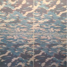 Ensemble: Clouds into Water I, var. 35-38, (4) woodcuts, 6'x6'