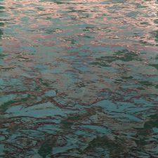 Tidal Pool - var. 12, 1/1 woodcut w/ silver ink, 3'x3'