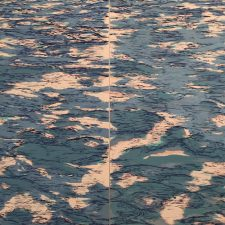 Tidal Pool Diptych (var. 12 & 13), 1/1, woodcut, (2) 3'x3'