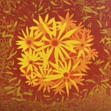 Bloom - var. 37, 1/1, woodcut, 3'x3'