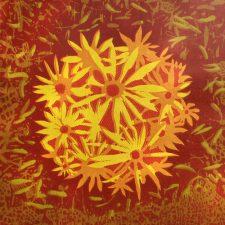 Bloom - var. 52, 1/1, woodcut, 3'x3'