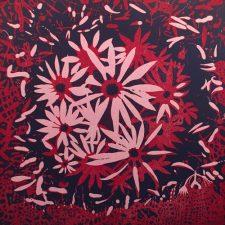 Bloom - var. 71, 1/1, woodcut, 3'x3'