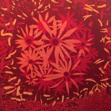 Bloom - var. 74, 1/1, woodcut, 3'x3'