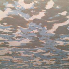 Clouds - var. 52, 1/1, woodcut, 3'x3'