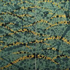 Network - var. 31a, 1/1 & 31b, 1/1, woodcut, (2) 3'x3'