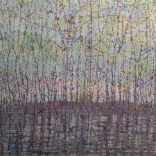 Stream - var. 13, 1/1, woodcut, 3'x3'