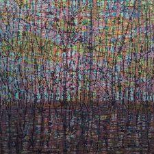 Stream - var. 20, 1/1, woodcut, 3'x3'