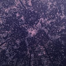 Woodland Skyscape - var. 71, 1/1, woodcut, 3'x3'