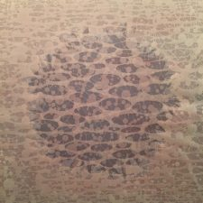 Zum/Bloom - var. 11, 1/1, woodcut, 3'x3'