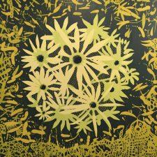 Spring Bloom, 2/4, woodcut, 3'x3'