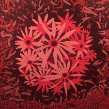 Bloom - var 49, 1/1, woodcut, 3'x3'