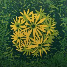 Bloom - var. 51, 1/1, woodcut, 3'x3'