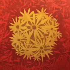 Bloom - var. 80, 1/1, woodcut, 3'x3'